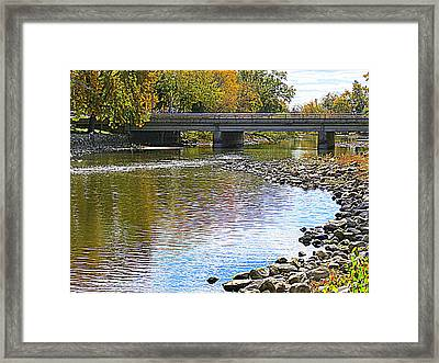 Autumn Along The Fox River Framed Print