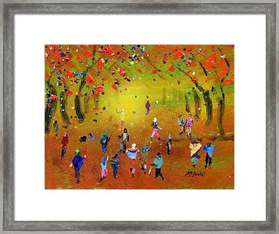 Autumn Amble Framed Print