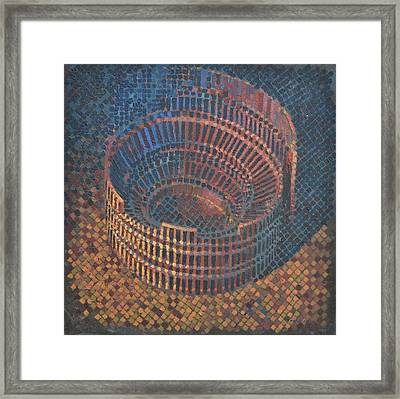 Framed Print featuring the painting Autumn Amphitheatre by Mark Howard Jones