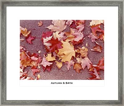 Autumn And Eighty Fourth Framed Print by Lorenzo Laiken