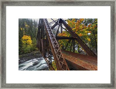 Autumn And Iron Framed Print by Mark Kiver