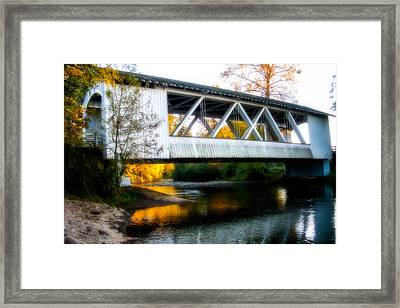 Autumn And The Larwood Bridge Framed Print