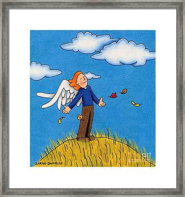 Autumn Angel Framed Print by Sarah Batalka
