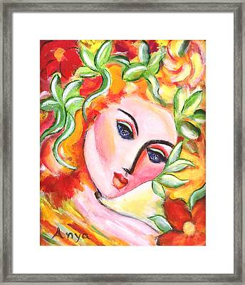 Framed Print featuring the painting Autumn by Anya Heller