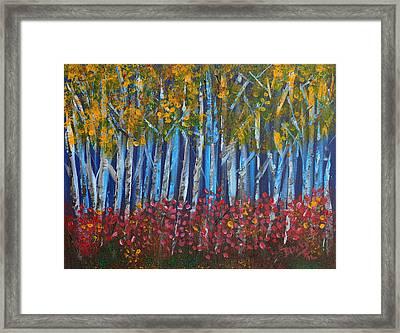 Autumn Aspens Framed Print by Donna Blackhall