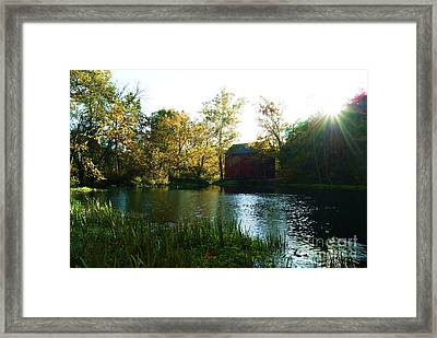 Framed Print featuring the photograph Autumn At Alley Spring And Mill by Julie Clements