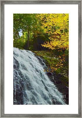 Autumn At Apple Creek Falls Framed Print by Kathleen Struckle