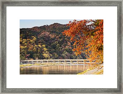 Autumn At Arashiyama Kyoto Japan Framed Print by Colin and Linda McKie