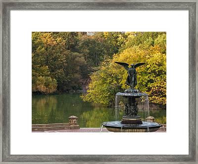 Autumn At Bethesda Framed Print