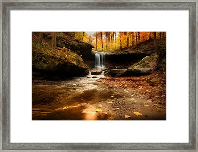 Autumn At Blue Hen Falls Framed Print