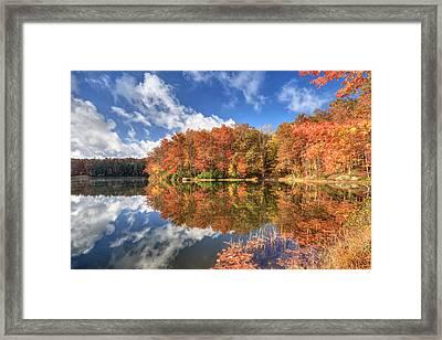 Autumn At Boley Lake Framed Print by Jaki Miller