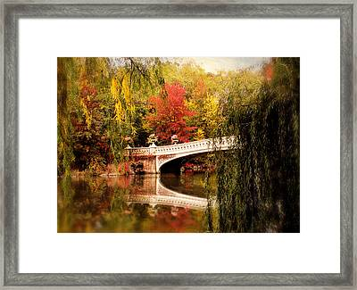 Autumn At Bow Bridge Framed Print