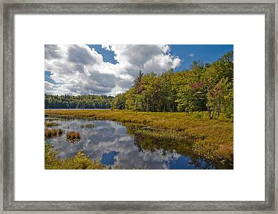 Autumn At Cary Lake - Old Forge New York Framed Print