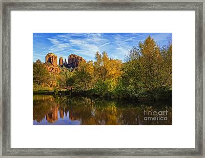 Autumn At Cathedral Rock Framed Print by Medicine Tree Studios