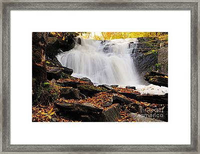 Autumn At Cattyman Falls Framed Print by Larry Ricker