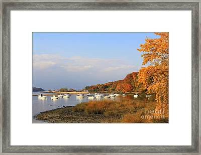 Autumn At Cold Spring Harbor Framed Print by Dora Sofia Caputo Photographic Art and Design