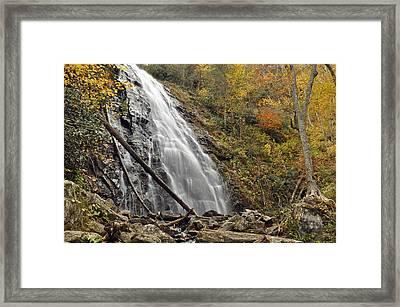 Autumn At Crabtree Falls In North Carolina Framed Print