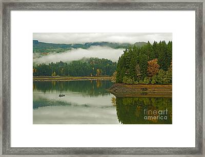 Framed Print featuring the photograph Autumn At Foster Lake by Nick  Boren
