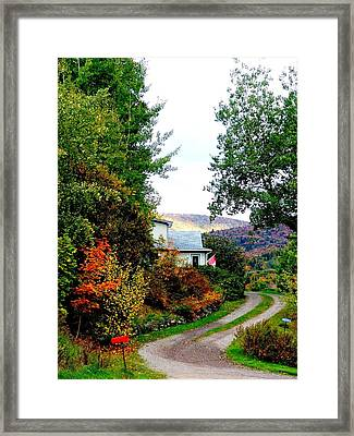 Autumn At French River Framed Print by Janet Ashworth