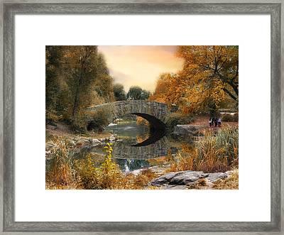 Autumn At Gapstow Bridge Framed Print by Jessica Jenney