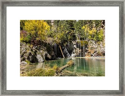 Autumn At Hanging Lake Waterfall - Glenwood Canyon Colorado Framed Print