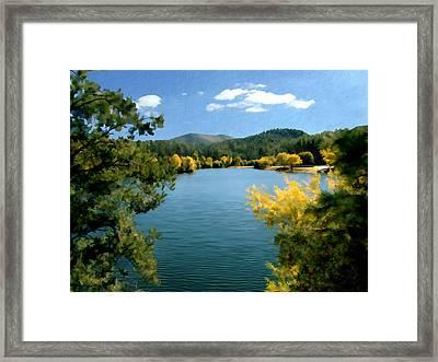 Autumn At Lynx Lake Framed Print by Kurt Van Wagner
