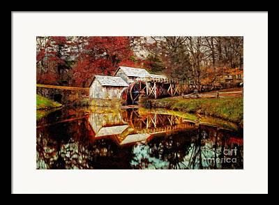 Old Mills Digital Art Framed Prints
