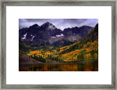 Framed Print featuring the photograph Autumn At Maroon Bells by Ellen Heaverlo