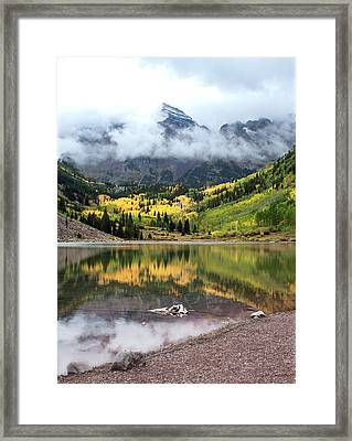 Autumn At Maroon Bells In Colorado Framed Print