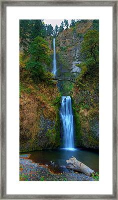 Autumn At Multnomah Falls Framed Print by Dan Mihai