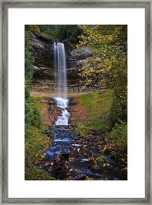 Autumn At Munising Falls Framed Print