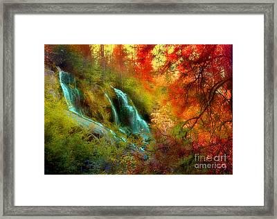 Autumn At Naramata Falls Framed Print by Tara Turner