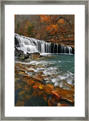 Autumn At Richland Falls Framed Print by Jeff Rose