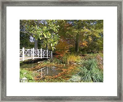 Autumn At Sayen Gardens Framed Print