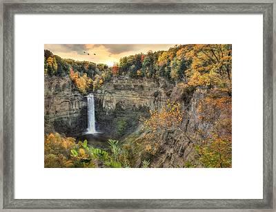 Autumn At Taughannock Falls Framed Print by Lori Deiter