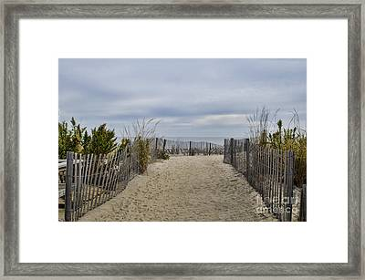 Autumn At The Beach Framed Print