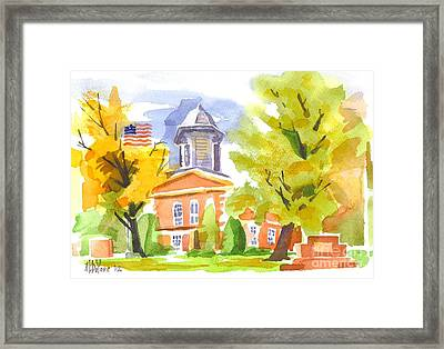 Autumn At The Courthouse Framed Print by Kip DeVore