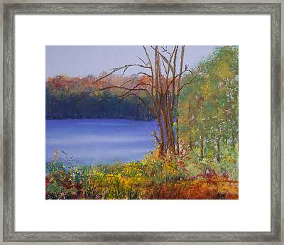 An Autumn Day At Cary Lake Framed Print