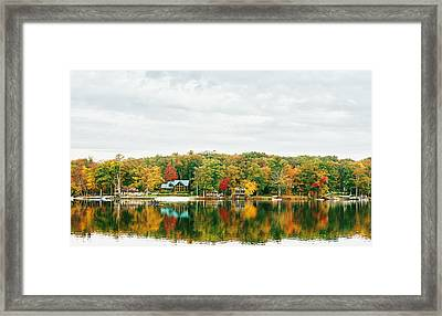 Autumn At The Lake - Pocono Mountains Framed Print