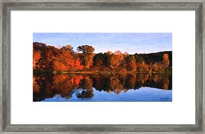 Autumn At The Lake Framed Print