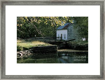 Autumn At The Lockhouse Framed Print
