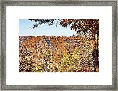 Autumn At The New River Gorge Single-span Arch Bridge Framed Print