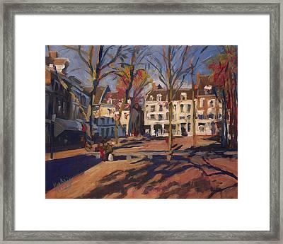 Autumn At The Onze-lieve-vrouweplein Maastricht Framed Print
