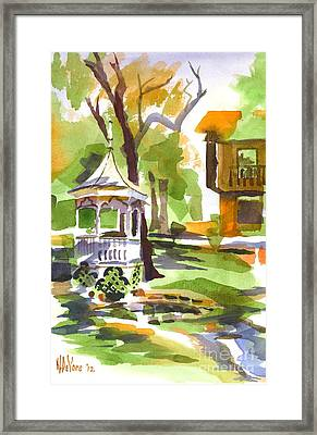 Autumn At The Rectory Framed Print by Kip DeVore