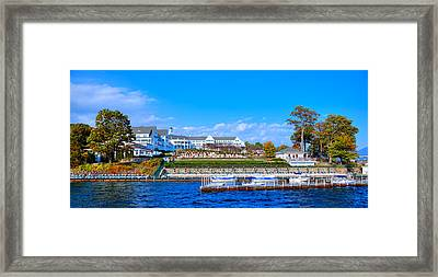 Autumn At The Sagamore Hotel - Lake George New York Framed Print by David Patterson