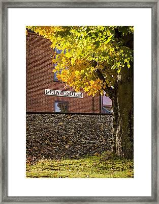Autumn At The Salt House Framed Print