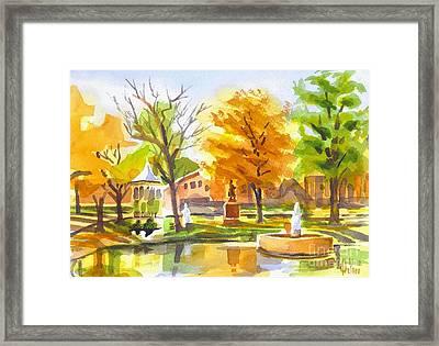 Autumn At The Villa Framed Print by Kip DeVore