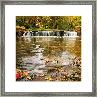 Autumn At Valley Creek Framed Print by Rima Biswas