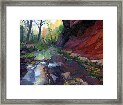 Autumn At West Fork Framed Print by Russell Johnson
