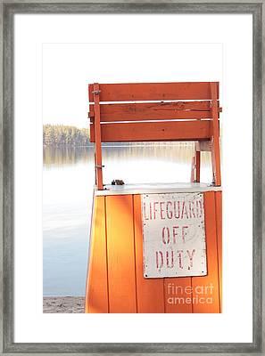 Autumn At White Lake Framed Print by Barbara Bardzik